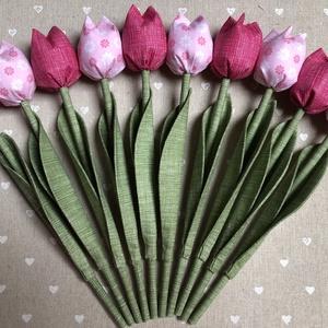 Textil tulipán /szett: 10 db/ ingyen ajándékkísérővel, Csokor & Virágdísz, Dekoráció, Otthon & Lakás, Varrás, Egyedi textil TULIPÁNOK eladók. \n\nA csokor 10 szál tulipánt tartalmaz:\n- 5 pink\n- 5 rózsaszín virágo..., Meska