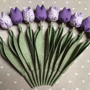 Textil tulipán /szett: 10 db/ ingyen ajándékkísérővel, Csokor & Virágdísz, Dekoráció, Otthon & Lakás, Varrás, Egyedi textil TULIPÁNOK eladók. \n\nA csokor 10 szál tulipánt tartalmaz lila árnyalatban.\n\nGyönyörű dí..., Meska