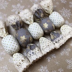 Textil szaloncukor /szett: 5 db/, Karácsony & Mikulás, Karácsonyfadísz, TEXTIL SZALONCUKOR  Egyedi textil szaloncukrok eladók karácsonyfadísznek vagy tökéletes ajándékkísér..., Meska