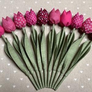 Tulipán /szett: 10 db/, Csokor & Virágdísz, Dekoráció, Otthon & Lakás, Varrás, Egyedi textil TULIPÁNOK eladók. \n\nA csokor 10 szál tulipánt tartalmaz pink variációban.\n\nGyönyörű dí..., Meska