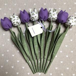 Tulipán csokor /szett: 8 szál/ ingyen ajándékkártyával, Csokor & Virágdísz, Dekoráció, Otthon & Lakás, Varrás, Egyedi textil TULIPÁNOK eladók. \n\nA csokor 8 szál tulipánt tartalmaz lila árnyalatokban.\n\nGyönyörű d..., Meska