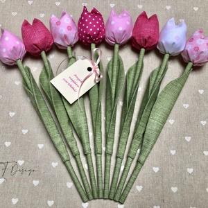 Anyák napi tulipán csokor /szett: 8 szál/ ingyen ajándékkártyával, Csokor & Virágdísz, Dekoráció, Otthon & Lakás, Varrás, Egyedi textil TULIPÁNOK eladók. \n\nA csokor 8 szál tulipánt tartalmaz rózsaszín árnyalatokban.\n\nGyöny..., Meska
