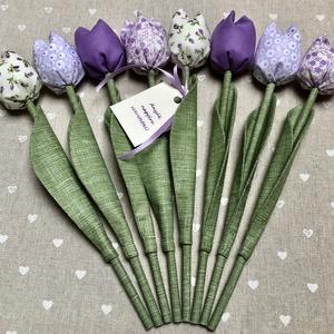 Anyák napi tulipán csokor /szett: 8 szál/ ingyen ajándékkártyával, Csokor & Virágdísz, Dekoráció, Otthon & Lakás, Varrás, Egyedi textil TULIPÁNOK eladók. \n\nA csokor 8 szál tulipánt tartalmaz lila árnyalatokban.\n\nGyönyörű d..., Meska