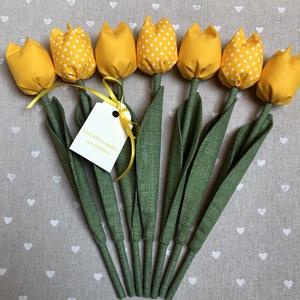 Születésnapi textil tulipánok / szett: 7 db/ ingyen ajándékkísérővel, Otthon & Lakás, Dekoráció, Csokor & Virágdísz, Varrás, Egyedi textil TULIPÁNOK eladók. \n\nA csokor 7 szál tulipánt tartalmaz.\n\nGyönyörű dísze lehet otthonun..., Meska