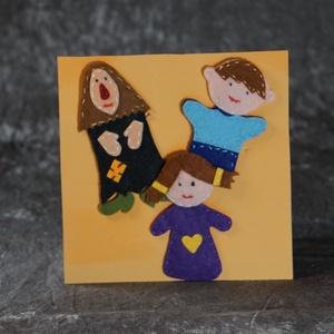 Jancsi és Juliska ujjbáb csomag, Játék & Gyerek, Bábok, Varrás, 100 %-ban kézzel készített filc ujjbáb figurák, ragasztót és műanyag elemeket nem\nhasználunk a készí..., Meska