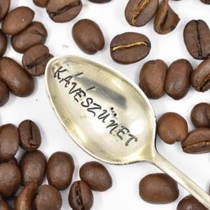 Kávészünet, Otthon & lakás, Konyhafelszerelés, Ötvös, Vintage ajándék szerelmeseknek.\nA szöveg: Kávészünet\n\nEz az egyik legnépszerűbb kanalam, nem véletle..., Meska