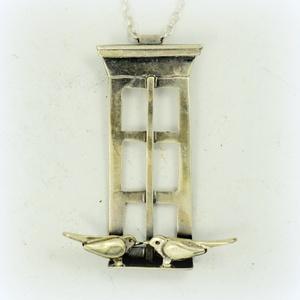 Ezüst madaraim, Ékszer, Medál, Ötvös, Ékszerkészítés,  Ezüstből készült ez a különleges medálka,\nMagassága kb 4 cm.\n, Meska