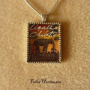 Agatha Christie: Az elefántok nem felejtenek (nyaklánc), Ékszer, Nyaklánc, Medálos nyaklánc, Ékszerkészítés, Meska