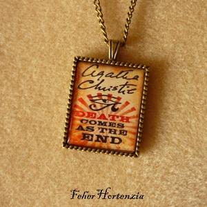 Agatha Christie: És eljő a halál (bronz) - nyaklánc, Ékszer, Nyaklánc, Medálos nyaklánc, Ékszerkészítés, Meska