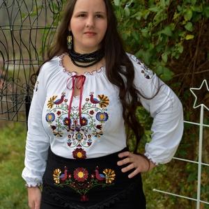 Rábaközi Fehérnép szalagos blúza - fehér HU, Blúz, Női ruha, Ruha & Divat, Hímzés, Varrás, Csillagszemű magyar asszonyok, hölgyek szépségének emelésére készítettük.\n\nBüszkék vagyunk arra, hog..., Meska