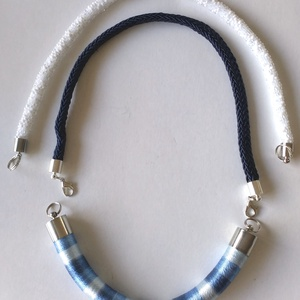 kék színátmenetes nyakék, Ékszer, Nyaklánc, Medál nélküli nyaklánc, Ékszerkészítés, Meska