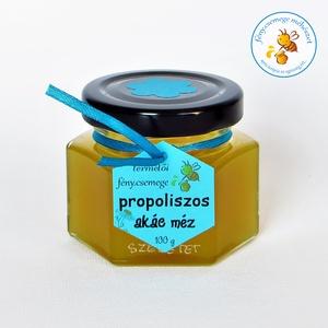 propoliszos akác méz 100 g, Méz, Kulinária (élelmiszer), Készételek, Élelmiszer előállítás, a propolisz a természet antibiotikuma és azt keverjük akác mézbe :) pontosabban propolisz sűrítményt..., Meska