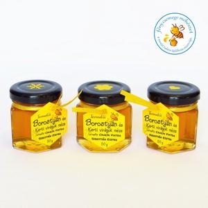 borostyán és kerti virágok méze mini díszüvegben (fenycsemege) - Meska.hu