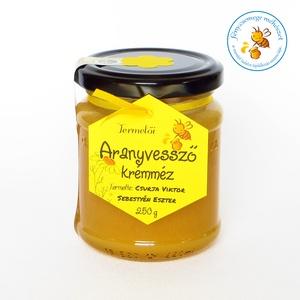 aranyvessző krémméz, Méz & Propolisz, Élelmiszer, Élelmiszer előállítás, az aranyvessző más néven szolidágó méz finoman kristályos krémméz és a virág illatára hasonlít az íz..., Meska