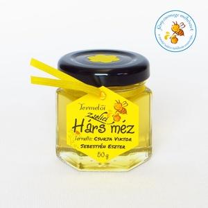 zselici hárs méz mini díszüvegben, Méz & Propolisz, Élelmiszer, Élelmiszer előállítás, méheinkkel a Zselic lábaihoz vándoroltunk, ahol a bükkös mellette jelentős mennyiségű és jól fejlődő..., Meska