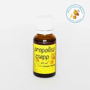 propolisz csepp (tinktúra) 20 ml × termelői, Kulinária (élelmiszer), Méz, Alkoholos italok, Élelmiszer előállítás, a kaptár és a mézeskeretek legkülönbözőbb pontjairól kapirgálom le a viaszos propoliszt, amit méhiké..., Meska