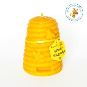 termelői méhviasz méhikés kas öntött gyertya tömbgyertya, Otthon & lakás, Lakberendezés, Gyertya, mécses, gyertyatartó, Dekoráció, Gyertya-, mécseskészítés, méhikés kas formájú öntött tömbgyertya a saját méhviaszunkból..\n\nméretei: 7 cm átmérőjű, 10 cm magas..., Meska