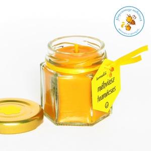 termelői méhviasz mécses × méhsejt formájú üvegben tetővel, Lakberendezés, Otthon & lakás, Gyertya, mécses, gyertyatartó, Dekoráció, Gyertya-, mécseskészítés, méhsejt formájú üveg mécses tetővel a saját méhviaszunkból..\nválasztható kis virágos vagy hópihés te..., Meska