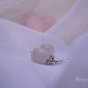 Rózsagömb fülbevaló (Fenyekszer) - Meska.hu
