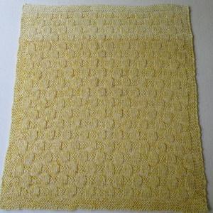 Babatakaró, Otthon & Lakás, Takaró, Lakástextil, Sárga-fehér kötött babatakaró, pamut tartalmú fonalból.  46x55 cm, 110 gr. Mosógépben is mosható...., Meska