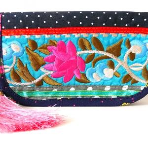 The Organizer \' Frida\'- a pénztárca ami mindent rendszerez , Táska, Divat & Szépség, Táska, Pénztárca, tok, tárca, Pénztárca, Varrás, Hímzés, Ez a pénztárca-erszény küllemre bájos és játékos--a belsőt tekintve maga a tökély a rendszerezésben...., Meska