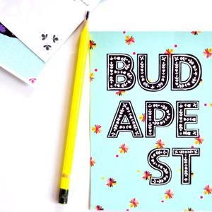 """ÚJ ! \""""Folk - Budapest\' - sorozat, képeslap , Naptár, képeslap, album, Otthon & lakás, Képeslap, levélpapír, Papírművészet, A \'kivirágzott Budapest\' mintámmal díszített papír kollekcióm újabb darabjai: képeslapok \nrusztikus,..., Meska"""
