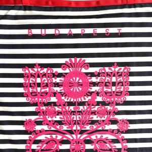 Budapest táska - kalotaszegi motívummal - tengerész , Shopper, textiltáska, szatyor, Bevásárlás & Shopper táska, Táska & Tok, Varrás, ÚJ kalotaszegi táskák ! A legletisztultabb, legerősebb motívumok számomra a kalotaszegi hímzések min..., Meska