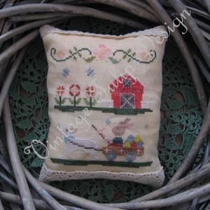 Keresztszemes minta / Cross stitch pattern, DIY (leírások), Szabásminta, útmutató, Hímzés, Mindenmás, Egyedi tervezésű keresztszemes minta.\nAnyag: 36 count hand dyed linen by xJudesign named Little Lamb..., Meska