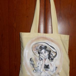Belle álmodozása bevásárló és ajándék táska, Táska, Táska, Divat & Szépség, Szatyor, Képzőművészet, Otthon & lakás, Festészet, Festett tárgyak, Belle álmodozása , régi időket idéző romantikus bevásárló és ajándék táska. Ajándék ként és csomagol..., Meska