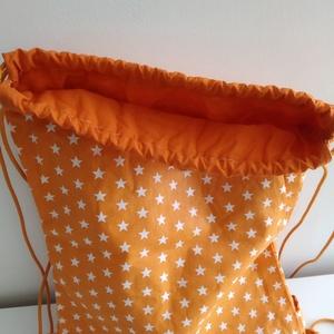 Csillagos hátizsák - Csillagos tornazsák - Bélelt hátizsák - Bélelt tornazsák - csillagos textil táska - Meska.hu