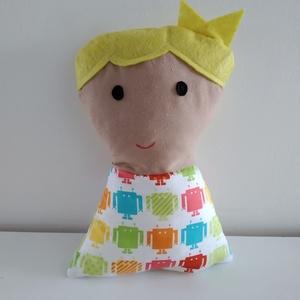 Kisfiú baba - rongybaba - Szőke hajú textil baba - puha kézműves baba - szők hajú fiú baba - játékbaba kisfiúknak, Baba, Baba & babaház, Játék & Gyerek, Baba-és bábkészítés, 23 cm magas, puha textil kisfiú baba. Ruhája pamut vászon anyagból készült. Szeme, haja filc, szája ..., Meska