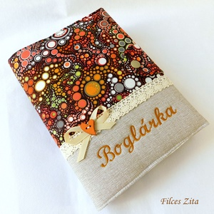 Őszi erdő hangulatú napló -  pamut jegyzetfüzet hímzett névvel, Otthon & Lakás, Papír írószer, Jegyzetfüzet & Napló, Varrás, Patchwork, foltvarrás, Barna -bézs, őszi erdő hangulatú pamut anyagokból  varrtam ezt a naplót. Gépi hímzéssel bármilyen né..., Meska