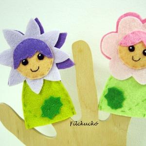Virágtündérek 1., Gyerek & játék, Játék, Báb, Karácsony, Játékfigura, Baba-és bábkészítés, Varrás, 2 db-os, kézzel készített ujjbáb csomag.\nIgazi csajos bábok kislányoknak.\nAjánlom mikulás csomagba é..., Meska