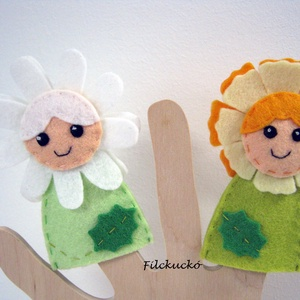 Virágtündérek 2., Gyerek & játék, Játék, Báb, Karácsony, Játékfigura, Baba-és bábkészítés, Varrás, 2 db-os, kézzel készített ujjbáb csomag.\nIgazi csajos bábok kislányoknak.\nAjánlom mikulás csomagba é..., Meska