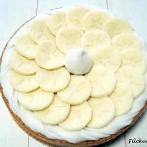 Banános habos tortácska - filcből, Játék & Gyerek, Szerepjáték, Főzőcskézzünk? Szereted a banános habos pitét? Vagy hívhatjuk tortácskának is. Szerintem mindkét fun..., Meska