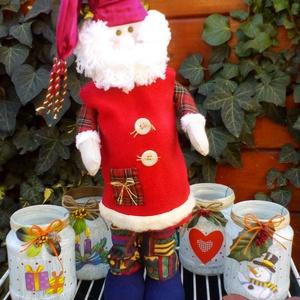 Mikulás, Karácsony, Otthon & lakás, Dekoráció, Ünnepi dekoráció, Baba-és bábkészítés, Adventi dekorációs figura.44 cm magas.\nBp.-en személyesen átvehető!\n, Meska