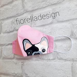 Fiorella Bulldog maszk /kifordítható, Maszk, Arcmaszk, Női, Kézzel festett egyedi tervezésű szájmaszk, fiorella stílusban a mindennapokra felnőtt nőknek.  Ha eb..., Meska