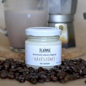 Szójaviasz illatgyertya - Kávészünet, Gyertya & Gyertyatartó, Dekoráció, Otthon & Lakás, Gyertya-, mécseskészítés, 100%-ban természetes alapanyagokból kézzel készített szójaviasz illatgyertya.\n\n -- Kávészünet -- \nil..., Meska