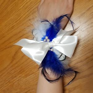 FlapperBees masnis csuklópánt, Esküvő, Hajdísz, ruhadísz, Esküvői ruha, Ruha, divat, Táska, Divat & Szépség, Mindenmás, Varrás, Bájos masnis csuklódísz, amely rugalmas csipkével készült. Dekoratív kiegészítője lehet koszorúslány..., Meska