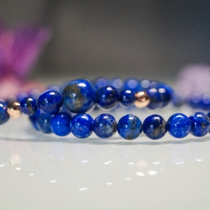 Lapis lazuli karkötők 6mm-es gyöngyökből, Ékszer, Karkötő, Bogyós karkötő, Gyöngyfűzés, gyöngyhímzés, Lapis lazuli karkötők 6mm-es gyöngyökből\n1. verzió: sima 6mm-es gyöngyök\n2. verzió: növekvő gyöngyök..., Meska