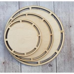 Horgolható fa alap - kerek - választható méretben, Fa, Rétegelt lemez, fa alap, Kötés, horgolás, Horgolt tárolók, kosarak alapjául szolgál a fa alap, melyek 15, 20 és 25 cm-es átmérőben kaphatóak...., Alkotók boltja