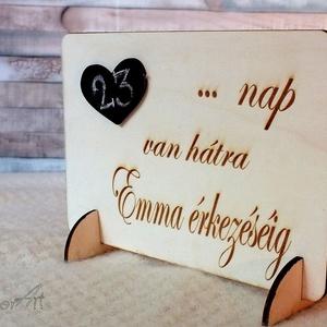 Babaváró tábla (floraldekor) - Meska.hu
