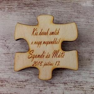 Esküvői köszönőajándék puzzledarab hűtőmágnes (floraldekor) - Meska.hu