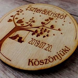 Köszönőajándék fa és szív motívummal – hűtőmágnes (floraldekor) - Meska.hu