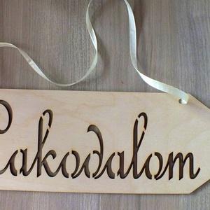 Esküvői dekoráció, iránytábla, tábla (floraldekor) - Meska.hu