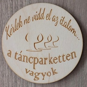 Esküvői poháralátét  (floraldekor) - Meska.hu