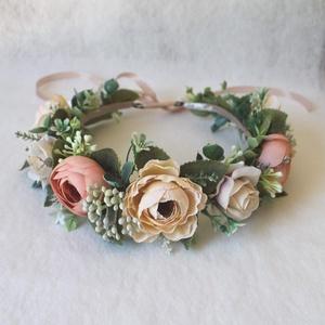 Virágkoszorú, fejdísz fotózásra  (FlorallyArt) - Meska.hu