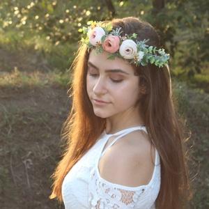 Virágkoszorú, fejdísz (FlorallyArt) - Meska.hu