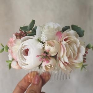 Virágos hajdísz (menyasszonyi)  (FlorallyArt) - Meska.hu