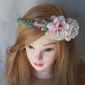 Minimal hajdísz, virágkoszorú (FlorallyArt) - Meska.hu